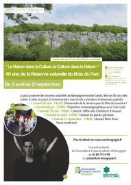 Affiche 40 ans de la RN du Bois du Parc