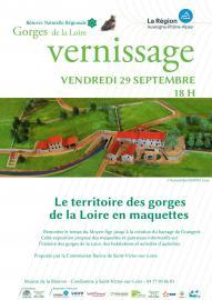 Affiche Vernissage RNN Gorges de la Loire