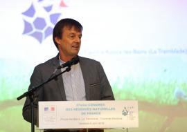 Nicolas Hulot au Congrès des réserves naturelles de France en avril 2018 - © A.Deniau