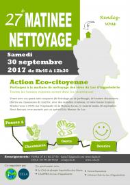 Affiche nettoyage des déchets du Lac d'Aiguebelette