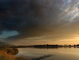 Vue de l'étang - © J. Jouve