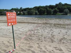 Panneaux pour les sternes - © RN Val de Loire