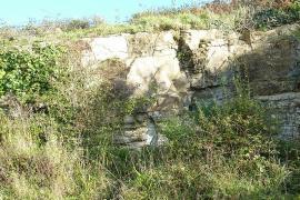 Carrière de calcaire à Rozan - © H. Moreau / Commons